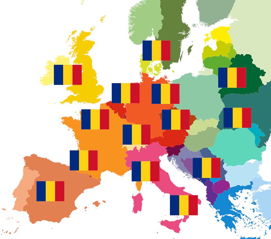imagine reprezentativă pentru Români în diasporă