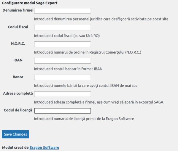 Imagine reprezentativa pentru modulul de wordpress Woocommerce Saga Export